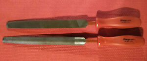 Snap On Hf 616 hf 615 Long File Pair red Hard Handle
