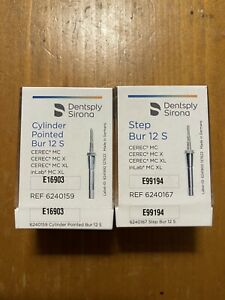 Cerec Sirona Inlab 12s Step 12s Cylinder Pointed Burs In Boxes