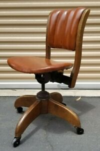 Vintage Boling Co Industrial Rolling Task Office Desk Swivel Chair Mid Century