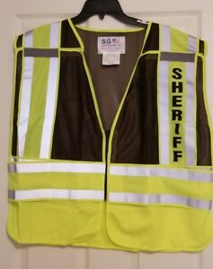 Sheriff Reflective Traffic Safety Vest Ansi Isea 207 2006 Hi Visibility 2xl 4xl