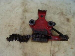 Ridgid Bc 410 Chain Pipe Vise 1 8 To 4 Inch Works Fine