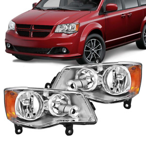 Headlights Fit For 2011 2018 Dodge Grand Caravan 2008 2016 Town Amp Country Pair Fits 2011 Chrysler Town Amp Country