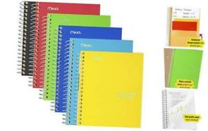 Small Spiral Notebooks 1 Subject College Ruled Paper 100 Sheets 7 6 Pack