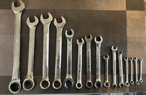 Usa Made Craftsman Mixed Wrench Set 15 Reversible Ratcheting Wrench
