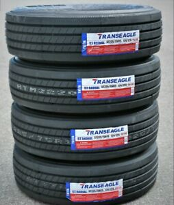 4 Tires Transeagle All Steel St Radial St 225 75r15 Load G 14 Ply Trailer