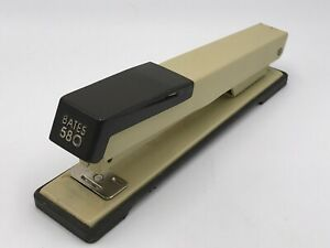 Bates Stapler 580 Tan brown Made In Usa Hackettstown Nj Tested works