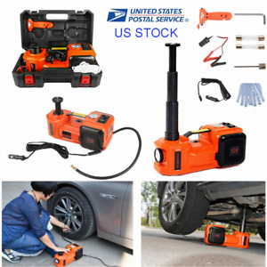 5 Ton Electric Hydraulic Floor Jack 3in1 Car Jack Lift 12v Dc Tire Inflator Pump