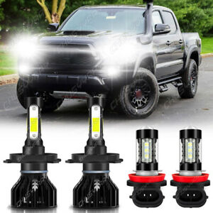 Combo Led Headlight Kit For Toyota Tacoma 2012 2015 High lo Beam Fog Light Bulbs