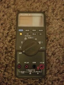 Fluke 87 Digital True Rms Multimeter For Parts Or Repair