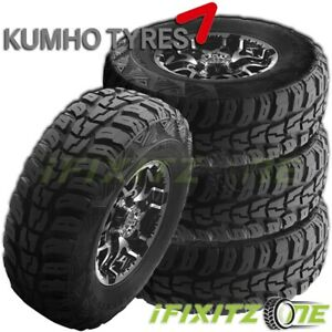 4 Kumho Road Venture Mt Kl71 27x8 50r14 95q 6 ply Truck All season Mud Tires