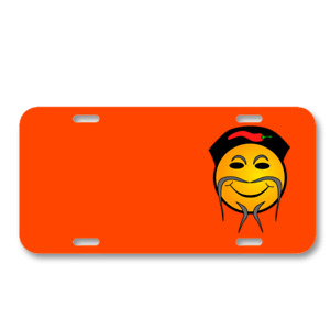 Chinese Food Hat Chef Smiley On License Plate Car Front Add Names