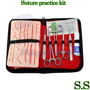5 Kits 19 Pcs Suture Practice Complete Suture Training With Silicone Pad Ds 1348