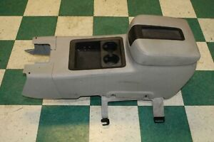 07 13 Gm Truck Gray Floor Center Console Cupholder Leather Lid Trim Panel