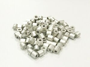 1 8 Aluminum Swage Line Stop End For Wire Rope Cable Clip Crimps 100 1000pks