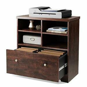 Lateral File Cabinet 1 Large Drawer Wood Filing Cabinet With 2 Open