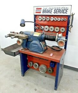 Nice Ammco 4100 Heavy Duty Disc Drum Brake Lathe W Bench And Adapter Kit