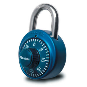 Master Lock 1530dcm Dial Combination Padlock 1 7 8 Inch Wide Assorted Colors New