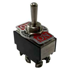 Heavy Duty Double Pole Momentary On Off On Metal Toggle Switch 20a 12v Fit 1 2