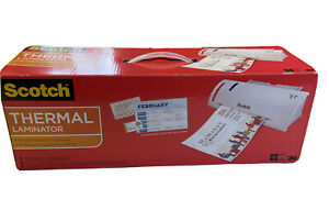 Scotch Thermal Laminator Machine Portable Warms Up Tl902 W pouches New open