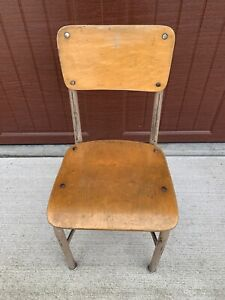 Vintage Child School Desk Chair