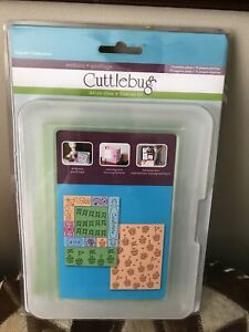 New Cuttlebug All In One Cupcake Celebration Embossing Plates Kit 10 Plates Box