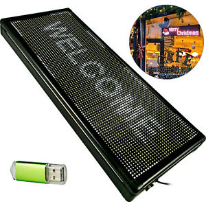 Led Scrolling Sign 40 x 15 White Open Signs For Advertising Message Board