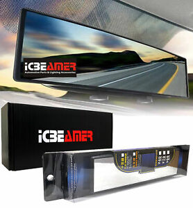 Universal Broadway 300mm Flat Clear Interior Clip On Rear View Mirror R804