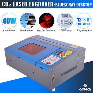 Omtech 40w Co2 Laser Engraver Engraving Cutting 12 x 8 Lcd Red Dot Guidance Usb
