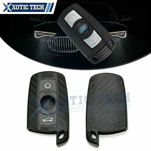Carbon Fiber Style Soft Silicone Key Fob Cover Case For Bmw 1 3 5 6 Series X5 X6