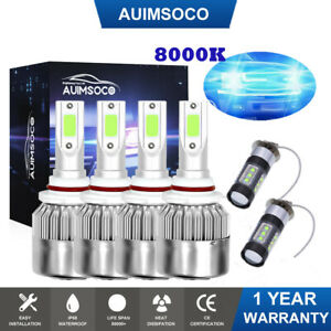 led Headlight Bulbs Conversion 8000k Blue For Dodge Intrepid 1998 2003 2004