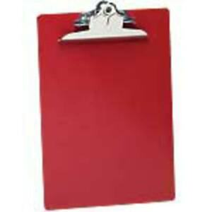 Antibacterial Clipboard w Hanging Hole 1 Cap 9 x12 red