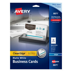 Avery 2 X 3 1 2 Clean edge 2 sided Inkjet Printable Business Cards 200 pk