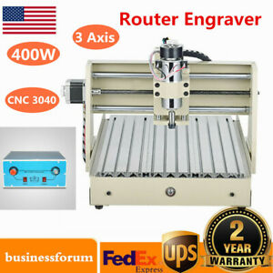 3 Axis Cnc Router 3040 Engraving Machine Milling Carving Drilling Engraver 400w
