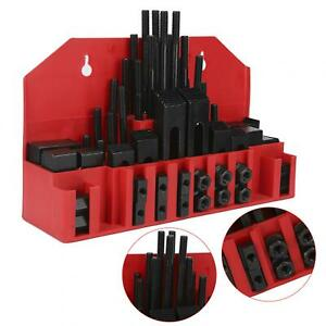58pcs Studs Hold Down Clamping Kit 7 16in T slot 3 8 16 Stud Combination Fixture