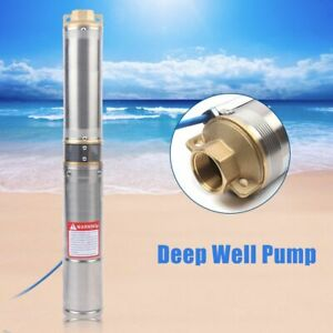 4 Electric Stainless Submersible Deep Well Pump Water Pump 0 75kw Max 4000l h