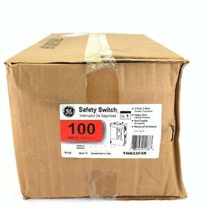 Ge Thn3363r Heavy Duty Safety Switch 100 Amp 3p 3w 600 Vac 250 Vdc Type 3r