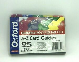 Esselte Oxford Durable Poly A z Card Guides 73154 File Tab 4 X 6 1 5 Tab Cut