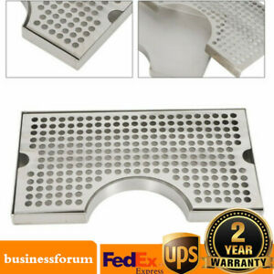 Tap Draft Beer Kegerator Drip Tray Stainless Steel Surface Mount No Drain Usa