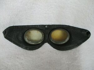 Vntg Plastic Lenses Steampunk Aviator Motorcycle Safety Glasses Goggles