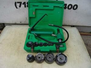 Greenlee Knock Out Hydraulic Punch And Die Set 7310 1 2 To 4 Inch Works Fine