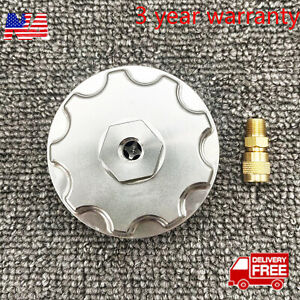 Fuel Filter Cap With Pressure Port For 2003 2007 Ford Powerstroke Diesel 6 0l