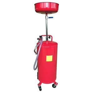 20 Gallon Waste Oil Drain Air Operated Fuel Transfer Tank Oil Change Wired Hose
