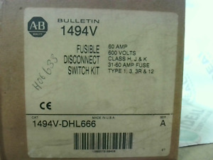 Allen Bradley 1494vdhl666a Disconnect Fusable Switch 60 Amps 60 New In Box