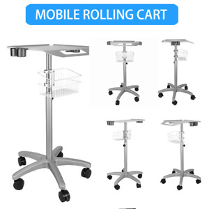 For Ultrasound Scanner Machine Mobile Rolling Cart Moveable Lab Trolley Basket