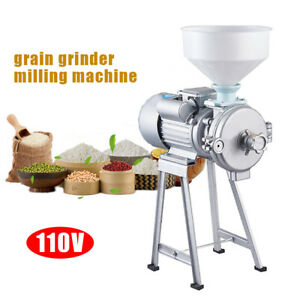 New Electric Feed Mill Wet Dry Cereals Grinder Rice Corn Grain Coffee Wheat Iron