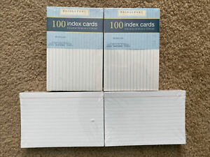 Oxford 40 4 X 6 Blank Index Cards White 100 pack 4 Pack Lot