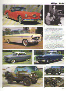 1954 Kaiser Darrin Special Willys Aero M 38 Jeep Article Must See