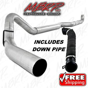 Mbrp Turbo Back 5 Exhaust W Downpipe 2004 2010 Chevy Gmc Duramax Lly Lbz Lmm