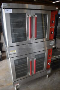 Used Vulcan Vc4gd Gas Double Stack Full Size Convection Oven