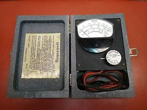 Vintage Honeywell W135 Test Meter In Wooden Case Used Fully Operational